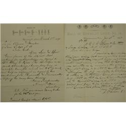 Unionville,NV - Pershing County - 1889-1891 - Unionville, NV Lodge Letters :