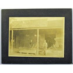 Gilroy,CA - Santa Clara County - c1900 - Blacksmith and Store of Ward & Martin Photograph :