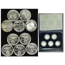 Kellogg,ID - Shoshone County - 1981 - Bunker Hill Silver Medallion Commemorative Coin Group :