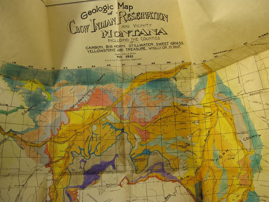 Crow Reservation Montana Map.Big Horn Yellow Stone Mt 1921 Crow Indian Reservation And
