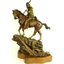 Large bronze by noted Oregon artist David Manuel