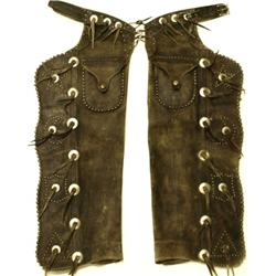 "Massive pair of batwing chaps "" Riley McCormick """