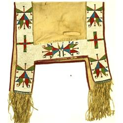C. 1900 classic Sioux beaded saddle blanket