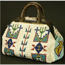 C. 1890 fully beaded doctors bag