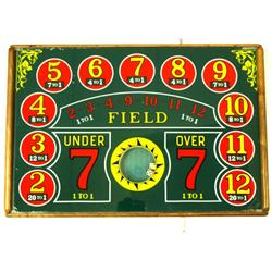 Under counter gambling dice game