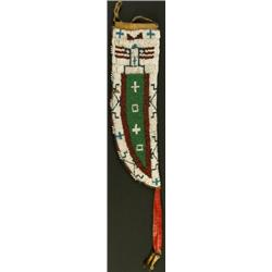 C. 1920's Sioux beaded front knife sheath