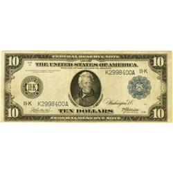 Ten Dollar Federal Reserve Note 1914 K-11