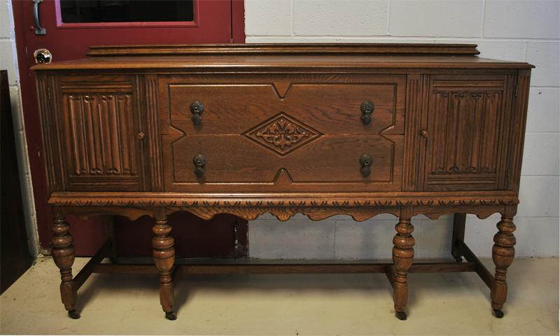 ... Image 4 : Antique Carved Jacobean Style Dining Set ...