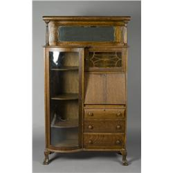 Victorian Oak Side by Side Secretary/Bookcase