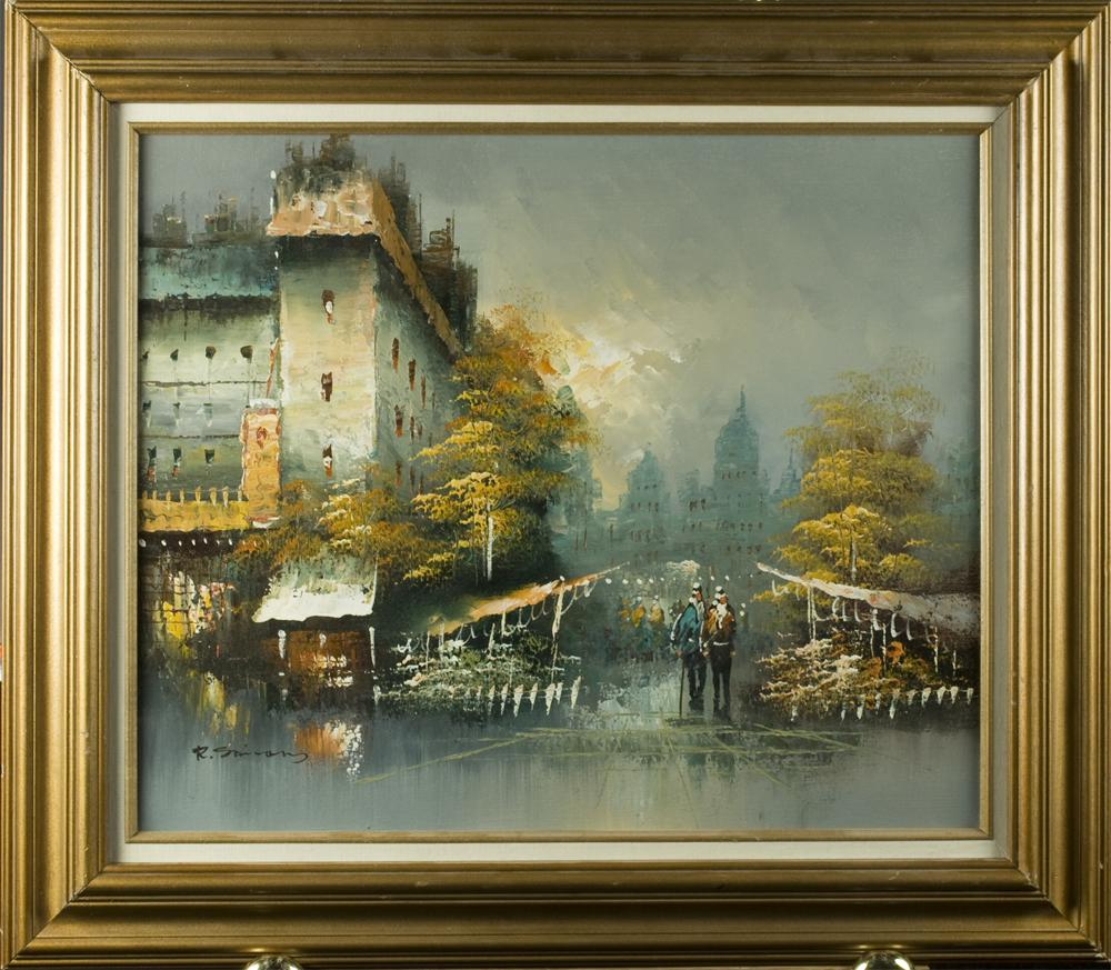 r  simmons  oil painting on canvas