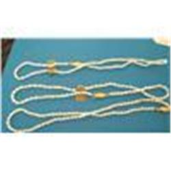 3 Genuine Freshwater Pearl Necklaces, 24 -32