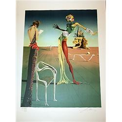 Dali Handsigned and Numbered Lithograph