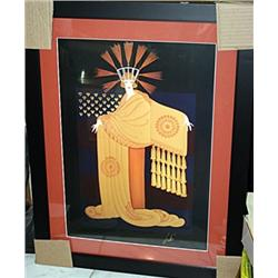 Erte Plate Signed Lithograph - Tassel Gown