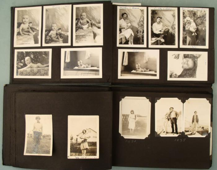 2 antique family photo albums 1920s 40s children 100