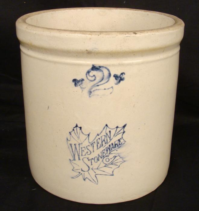 Western Stoneware Co 2 Gallon Vintage Crock Pot