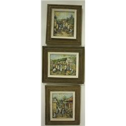Three Haitian oil paintings signed Ernst Louizor