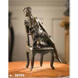 Bronze Seated Lady