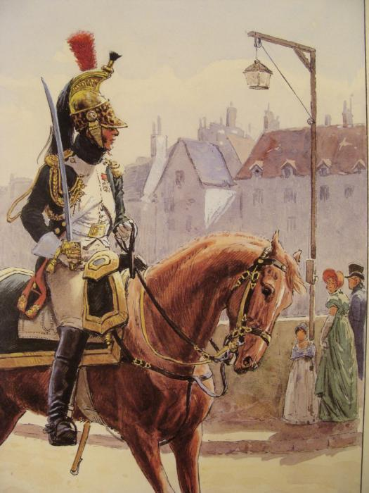 French Guard Napoleon Cavalry Parade Print Rousselot