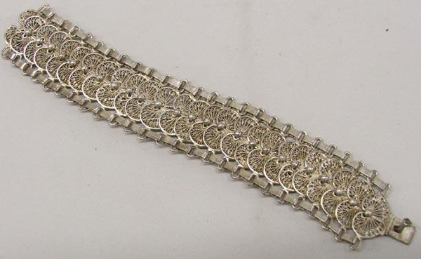 Image 1 Mexican Silver Filigree Bracelet