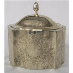 Silver Etched Dresser Box
