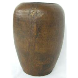 Hammered Copper Vase From Nepal