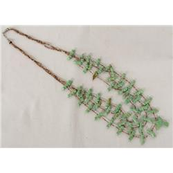 Navajo Green Turquoise Fetish Heishi Necklace