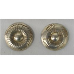 Pair Hopi Sterling Silver Pins