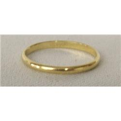 14Kt Gold Wedding Band Size 8