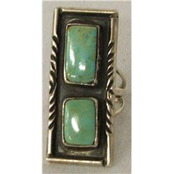 Older Sterling Silver Turquoise Ring Size 7 1/2