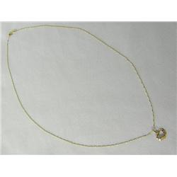 14Kt Italian Gold Chain With Heart Pendant