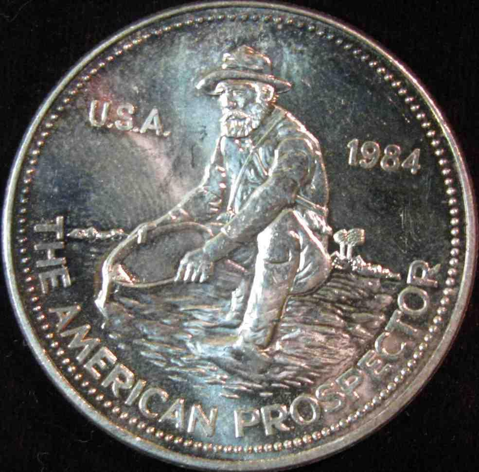 6 1984 Quot The American Prospector Quot Engelhard One Troy Ounce
