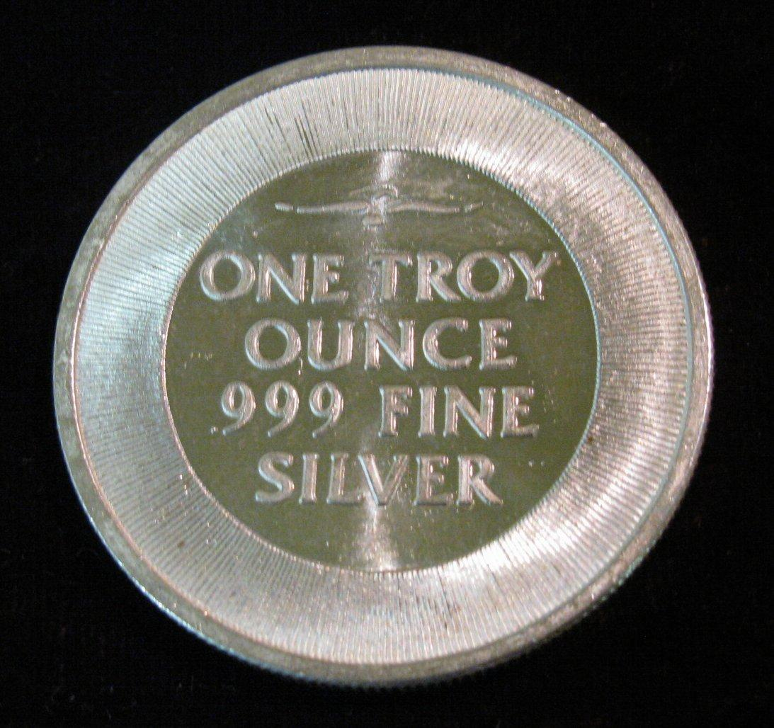 18 Spread Eagle Quot Silver Trade Unit Quot One Troy Ounce 999