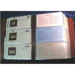 """56. Large Simulated Leather Bound Album titled """"Golden Replicas of U.S. Stamps"""""""