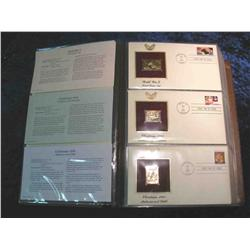 """60. Large Simulated Leather Bound Album titled """"Golden Replicas of U.S. Stamps"""