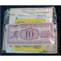 91. Collection of (51) Different Food Stamp Money Issues.