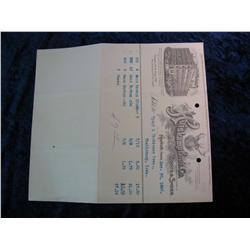 99. 1906 Invoice from the Huiskamp Bros. Co. Boots & Shoes. Nice litho.