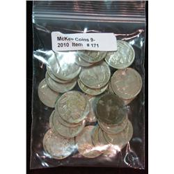 171. Roll of (25) Mixed Date Buffalo Nickels. Average circulated.