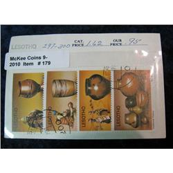 179. Lesotho Set of 4 Stamps. Cat. No. 297-300 Catalogued $1.62 years ago.