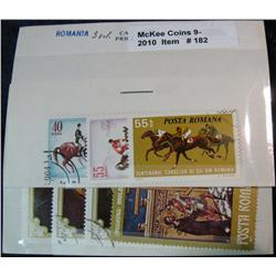 182. Third & Fourth Sets of Romania Cancelled Stamps. (7 pcs.)