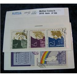 185. Collection of Russian Stamps 2803/5 & 2811, 2837.