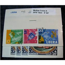 187. Collection of Liberia Stamps. 549/53 & 415/7.