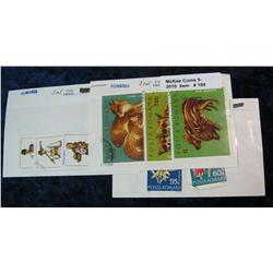189. Set of Romania Stamps. Includes 2333/4.& (2) 3 pc. Sets.