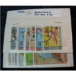 192. Collection of Ajman Stamps includes no. 27-36 and more.