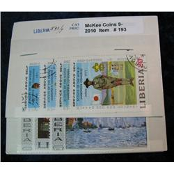 193. Collection of Liberia Stamps includes no. 489/94 & 593/7.