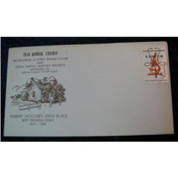 195. 1874-1964 West Branch, Iowa 15th Annual Exhibit Cover with uncancelled