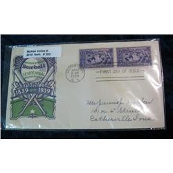 202. 1839-1939 Baseball Centennial First Day of Issue Cover postmarked at