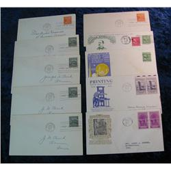 204. (10) 1939 Postmarked First Day Covers. All different.