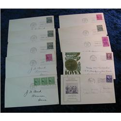 206. (10) 1939 Postmarked Covers including First Days; Iowa Centennial; &