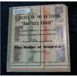 "317. ""A Tribute to the 48 States"" House of Seagrams Sheet of Stamps."