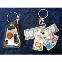 349. Keyring with Miniature laminated Currency fan & Marlboro Cigarettes